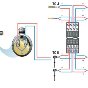 Bộ chuyển đổi tín hiệu can nhiệt ra modbus đa kênh